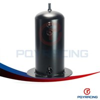 Wholesale QY STORE BLACK Universal Dual Aluminum L fuel Surge Tank Water Tank With mm Fitting PQY TK17BK Fuel tank