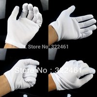 cotton gloves white - 15Pairs Inspection Cotton Gloves White Hip Hop Dance Glove Halloween White Gloves Party Prors in Apparel