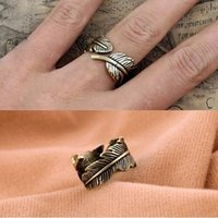 ali express - G059 Hot Selling Vintage Feather Finger Ring General Charms For Women Wedding Jewelry Accessories Ali express Yiwu