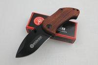 Cuchillo de supervivencia Pequeño Boker DA33 cuchillo plegable 56HRC 440C lámina navaja de bolsillo con clip trasero mejores herramientas de senderismo cuchillos envío gratis