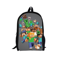 Wholesale HOT SALE minecraft backpacks school bags minecraft backpack for boys girls travel for kids best gift