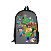 Wholesale Retail Large size HOT SALE minecraft backpacks school bags minecraft backpack for boys girls travel for kids best gift