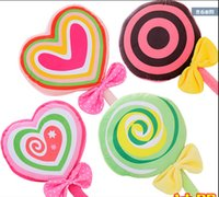 Wholesale New Cute Lovely lollipop Cushion Pillow for Car Plush toys Nap Blankets Valentine s day girl s gift in
