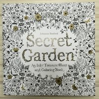 Wholesale Free DHL Secret Garden An Inky Treasure Hunt and Coloring Book For Children Adult Relieve Stress Kill Time Graffiti Painting Drawing Book
