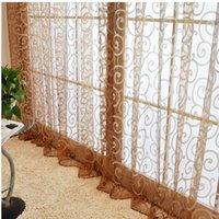 Wholesale Window Curtain Home Decoration Color Choice Fashion Modern Screening Finished Product Quality Sheer Panel Living Room