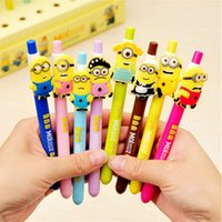 Wholesale New Despicable Me Minions Figures Inks Ballpoint Pen Pens Kids Children Student Stationery Gifts