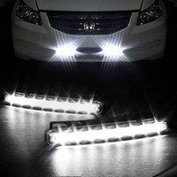 Cheap Car Truck Van Daytime Running Light Head Lamp White 8 LED DRL Daylight Kit Hot A1757