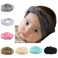 Girl baby braided headband - 2016 Baby Lace Headbands Girls Hair Braided With Childrens Safely Cross Knot Hair Accessories Head Wrap Lovely Infant Elastic Headband