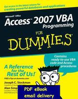 access programmes - Access VBA Programming For Dummies
