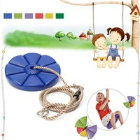 Wholesale Best Sale Hign Quality Fun Durable Plastic Swing Set Play disc SWING Seat Tree Swing Disk Blue Garden Kids Children Toy order lt no track