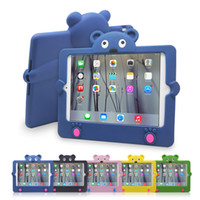 Protective Shell/Skin bear ipad case - JUN_Q Brand D Cuartoon Cute Bear Stand up Kids Shockproof Case For Apple iPad Mini Smart Cover Shockproof inch tablet Cases