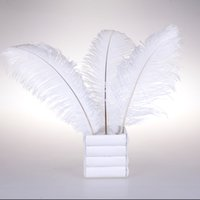 Wholesale Pretty Natural White Ostrich Feathers inch Long Wedding Birthday Christmas Decorations