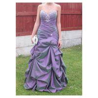 Cheap Corset Prom Dresses Best Grape Strapless Party Evening Dresses