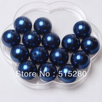 navy acrylic beads 20mm - mm Navy Acrylic Pearl Beads Chunky Gumball Beads A65