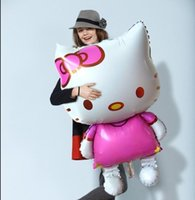 inflatable cartoon - Cartoon balloon x68cm Oversized Hello Kitty Cat Foil Balloons Cartoon Birthday Decoration Wedding Party Inflatable Air Balloon