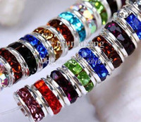 Wholesale Mixed Color Crystal Rondelle Spacer Beads mm HOT