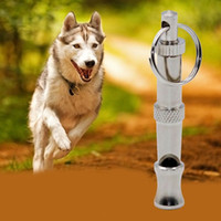 Wholesale 1 set High Quality Metal Dog Puppy Whistle Ultrasonic Adjustable Sound Key Training ZH346 order lt no tracking