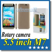 Cheap 10pcs Cheap 5.5 inch Android 4.4 3G Unlocked Cell Phone Jiake M7 Rotatable Camera MTK6572 Dual 512MB 4GB Mobile Phone
