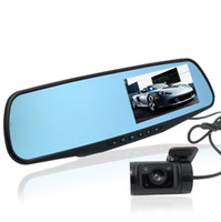 "Cheap 4.3"" LCD Mirror Car DVR Dual Lens Camera GPS Logger Car Digital Camera Recorder 1080P Full HD Rear View Camera 720P Dash Camera"