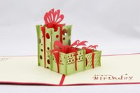 Cheap Birthday Cards 3 d Christmas card Best Sample Retail 3D/Stereoscopic stereoscopic paper