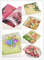 Wholesale Colored Napkin Paper Beautiful Party Paper X34CM Pack Pack in Six kinds Holiday Supplies