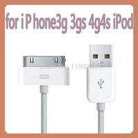 Precio de 3g usb libre--Al por mayor libre del envío - cable de datos 2.0 cabeza cuadrada de 6 clavijas USB es adecuado para Iphone 3G cable de datos cable de 4 4S Ipad / carga