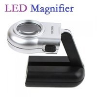 Wholesale High quality x mm LED Illuminated Magnifier Magnifying Glass Loupe Folding Stand Handheld Portable Pocket Dropshipping
