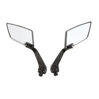 Wholesale 1Pair HD Universal Motorcycle Side View Mirrors Backup Mirror for Honda Yamaha Suzuki Kawasaki Motorbike Rear View Mirror Covers K1687