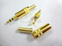 Cheap Oyaide Straight 3.5mm Male stereo phono DIY Solder Adapter Gold 3.5mm 3 Pole Male headphone Jack Plug Audio Soldering Stereo
