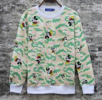 anime apparel - Sales Hip hop clothes men Hoodies Sweatshirts Camouflage anime Mickey Mouse printing Men s Clothing Apparel mix order