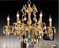 antique art deco brass chandelier - D680mm H650mm Heads Brass Pendant Lamp Antique Brass Chandelier Vintage Total Copper Glass AC Guaranteed