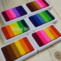 Wholesale gradual change colors collection colorful inkpad for stamp multicolor Cartoon Ink pad