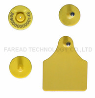 Wholesale RFID animal ear tag Low frequency Sheep cow pig RFID animal identification visual tag HDX electronic ear mark