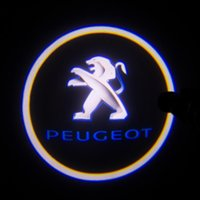 Wholesale 2 X th Gen LED car door Ghost Shadow laser projector logo light for PEUGEOT Car D Welcome Light Door