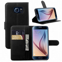 galaxy note 3 phone - 2015 Fashion Luxury Samsung Galaxy S6 Edge Leather Case Cover Flip Leather Wallet Stand Phone Case Cover For Galaxy S4 S5 S6 Note Note
