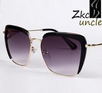 Wholesale brand Fashion retro eyewear Cool Mirror metal leg UV Protection Aviator Women Sun Glasses ty3345
