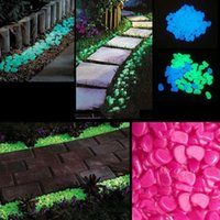 glow stone - novelty solar energy glow pebble stone Glow in the Dark DIY Decorative Gravel Stones For Fish Tank Luminous Stone Color KG