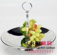 baskets ideas - European single stainless steel fruit compote dish simple ideas snacks candy rack basket tray