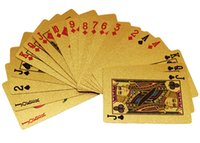plastic plate - GOLD FOIL PLATED PLAYING CARDS US DOLLAR STYLE PLASTIC POKER DECKS GOOD PRICE