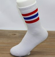 beautiful football - Three bar cotton sports socks towel beautiful football lovers socks