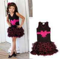 Cheap hot selling 2014 new fashion style children dresses for baby girl bow chest cake voile lace dress high quality