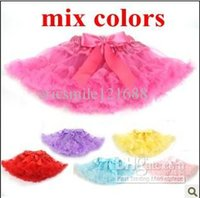 Wholesale Children Tutu Skirt Korea Style baby girls skirt cute bowknot tulle skirt Girl s Pleated Skirt mix color