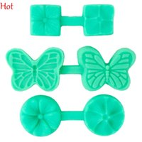 baking silicone molds - Hot D Resin Molds Fondant Mold Silicone Mold Clover Flower Butterfly Silicone Cake Mold Fondant Cake Decorating Tools Baking Moulds TK1068