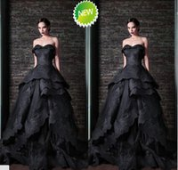 Reference Images Sweetheart Organza 2015 free shipping new design corset a-line sexy sweetheart long exquisite applique elegant black organza arabic evening dresses