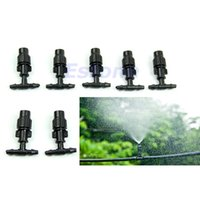 Wholesale P128 New Greenhouse Flower Plant Garden Misting Atomizing Sprinkler Nozzles Tee Black