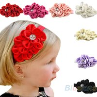 Wholesale Baby Girls Chiffon Headband Hairbow Hairband Head Hair Band Flower Take Photo Beauty Accessories hot Selling D9