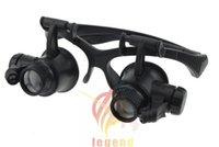 achat en gros de type lunettes montre-9892G LED Magnifier Loupes type d'éclairage Circuit Boards Binocular Magnifier pour Watch 1pcs réparation