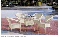 rattan furniture - foshan furniture factory supply garden table and chair rattan table and chair