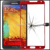 Cheap Premium Tempered Glass Screen Protective Film 0.33mm for Samsung Galaxy Note 3 N9006 Note III Red Color