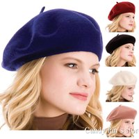active feature - Featuring a soft cozy and flexible wool Plain Solid Elastic Soft Wool Blend Beret Beanie Hats Caps Very versatile lightweight and easy to